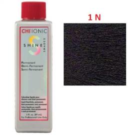 Безаммиачная жидкая краска для волос (Чёрный) - CHI Ionic Shine Shades Liquid Color 1N