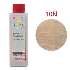 Безаммиачная жидкая краска для волос (Очень светлый блондин) - CHI Ionic Shine Shades Liquid Color 10N