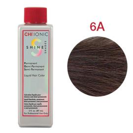 Безаммиачная жидкая краска для волос (Светло пепельно-коричневый) - CHI Ionic Shine Shades Liquid Color 6A