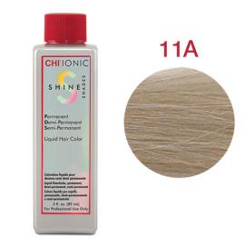 Безаммиачная жидкая краска для волос (Очень светлый пепельный блондин) - CHI Ionic Shine Shades Liquid Color 11A
