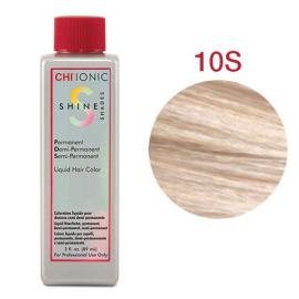 Безаммиачная жидкая краска для волос (Очень светлый серебристый блондин) - CHI Ionic Shine Shades Liquid Color 10S