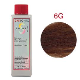 Безаммиачная жидкая краска для волос (Светлый золотой-коричневый) - CHI Ionic Shine Shades Liquid Color 6G