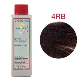Безаммиачная жидкая краска для волос (Темный красно-коричневый) - CHI Ionic Shine Shades Liquid Color 4RB