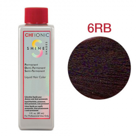 Безаммиачная жидкая краска для волос (Светлый красно-коричневый) - CHI Ionic Shine Shades Liquid Color 6RB