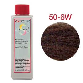 Безаммиачная жидкая краска для седых волос (Светлый теплый коричневый) - CHI Ionic Shine Shades Liquid Color 50-6W