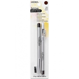 Карандаш для бровей темно-коричневый Andrea Brow Pencil Duo Dark
