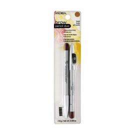 Карандаш для бровей темно-серый Andrea Brow Pencil Duo Taupe