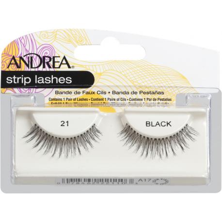 Накладные ресницы Andrea Strip Lashes Style 21 Black
