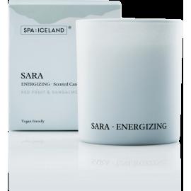 Бодрящая ароматическая свеча Spa of Iceland Sara 155G