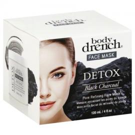 Маска черная угольная для лица Body Drench Detox Black Charcoal face mask 120 мл