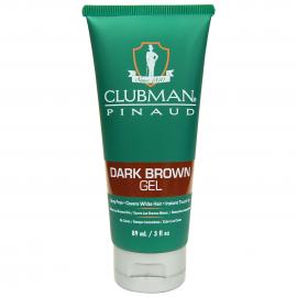Гель для волос подкрашивающий темно коричневый Clubman Temporary Dark Brown Gel 89 мл