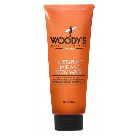 Шампунь мужской и гель для душа Woody's  Just4Play Hair  Body Wash 296 мл