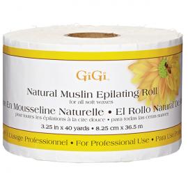 Натуральные миткалевые полоски для эпиляции GIGI Natural Muslin Epilating Roll