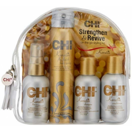 Набор кератиновое восстановление CHI Keratin Strenghten & Revive Travel Kit