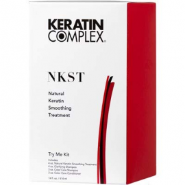 Кератин для волос набор пробный Keratin Complex Natural Keratin Smoothing Treatment Try Me Kit 414 мл