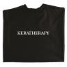 Черный болоневый пеньюар Keratherapy, накидка для стрижки, окрашивании волос
