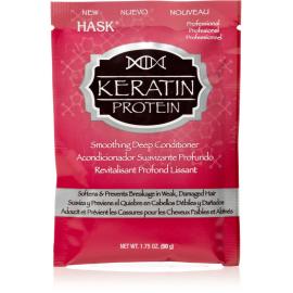 Маска для придания гладкости волосам с протеинами Кератина Hask - 50 г